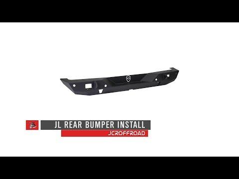JcrOffroad | JL Wrangler Rear Bumper Installation