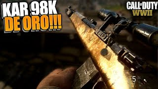 KAR 98K de ORO!!! | Call Of Duty : World War 2 | Rubinho vlc