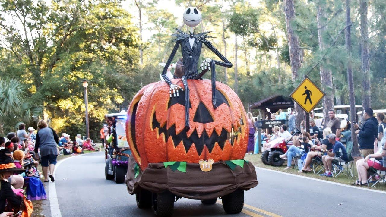 Fort Wilderness Christmas Golf Cart Parade 2020 Disney's Fort Wilderness Halloween Golf Cart Parade 2018 w/ Pirate