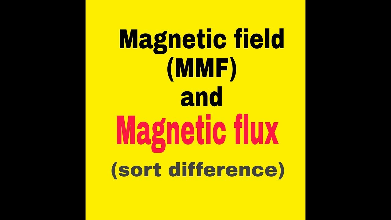 Basic difference between magnetic fild and flux