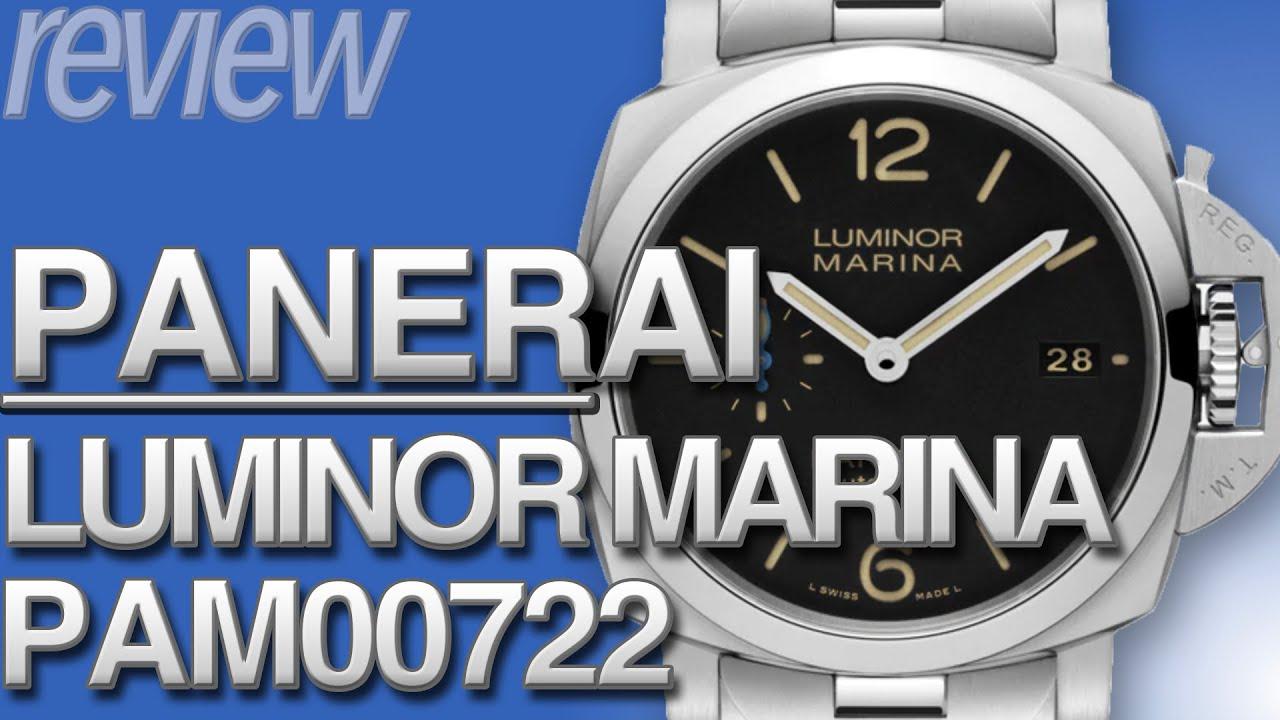 パネライ ルミノール マリーナ42 メタルブレスレット仕様 PANERAI LUMINOR MARINA PAM00722 実機レビュー!