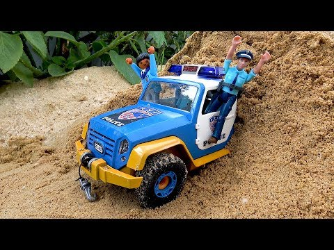 Assembling and Learn Colors with Police Car Jeep Toys