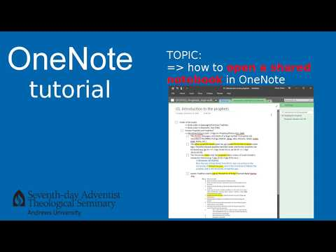 OneNote tutorial-01: opening shared notebook