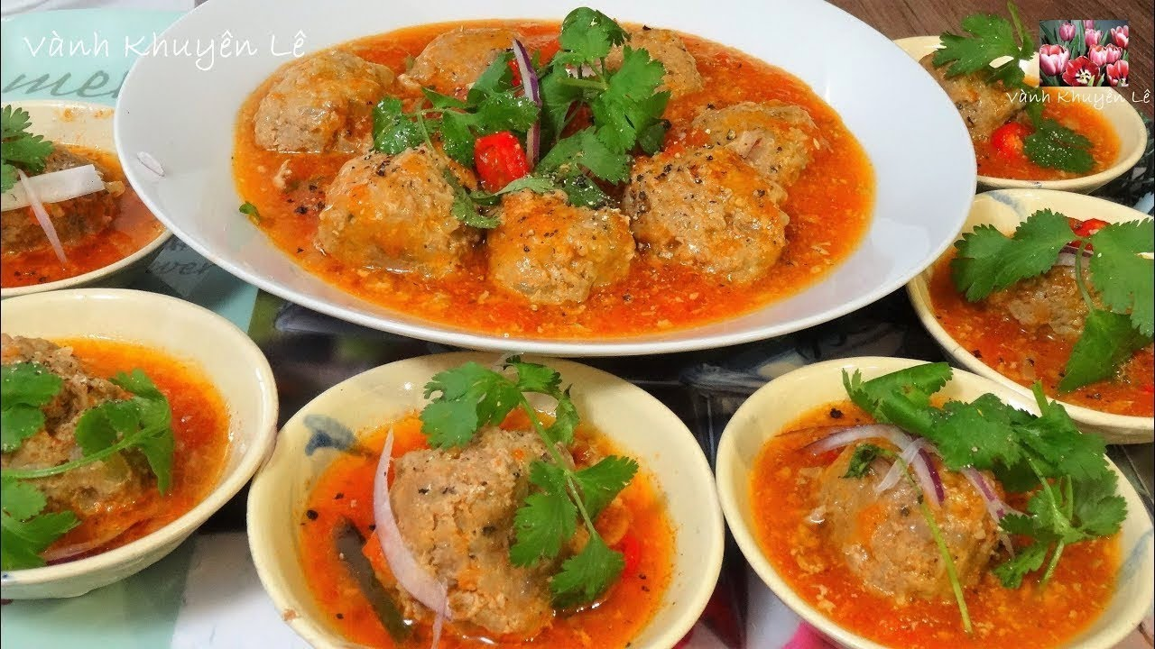 XÍU MẠI – Cách làm món Thịt viên Xíu Mại sốt Cà chua theo kiểu cổ truyền by Vanh Khuyen