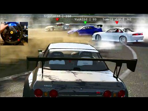 Assetto Corsa GoPro Online Drifting R32 Widebody - Project Touge | SLAPTrain