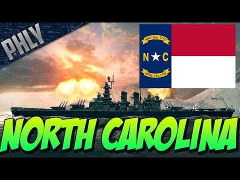 World Of Warships Battleships Gameplay! USS North Carolina Tier 8 Battleship!