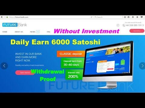 Future-bank.com - Daily Earn 6000 Satoshi free & Withdraw Zebpay Wallet