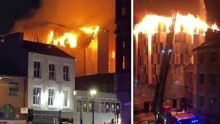 Huge fire in Bolton engulfs student flats The Cube