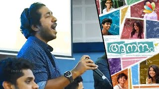 Vineeth Srinivasan sings Mohanlal's Naran Song in Aanandam Promotion