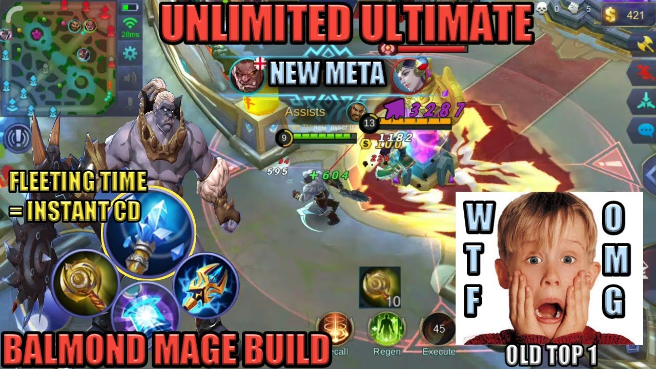 UNLIMITED SS | BALMOND MAGE BUILD | OLD TOP 1 | NEW META | MOBILE LEGENDS