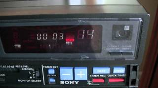 testing record and playback on a sony sl hf300 betamax vcr