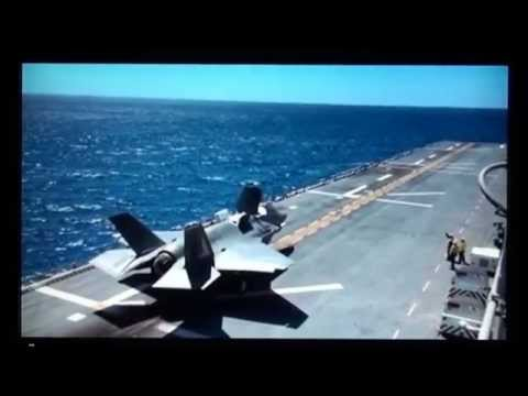 F 35 B Super Jet operational test fly May 2015 Vertical landing.
