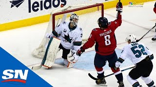 Capitals' Alex Ovechkin Records Hat Trick Against Sharks