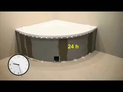 Badewanne einbauen - Einfache Wannenträger Montageanleitung Eckige Wanne