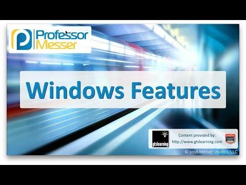 Descargar Video Windows Features - CompTIA A+ 220-902 - 1.1