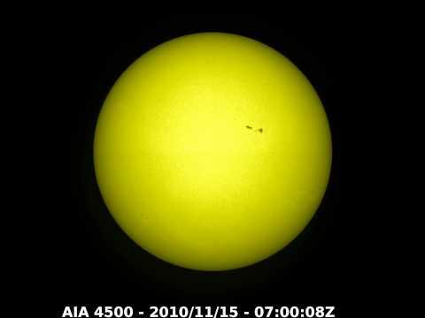 The Sun - Nov 1 to Dec 6 2010 / SDO AIA 4500 Angstroms