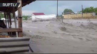 Во власти стихии: на Дагестан обрушились ливень и град