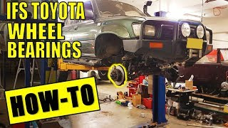 IFS TOYOTA FRONT WHEEL BEARINGS, HUB & KNUCKLE REBUILD - THE RIGHT WAY