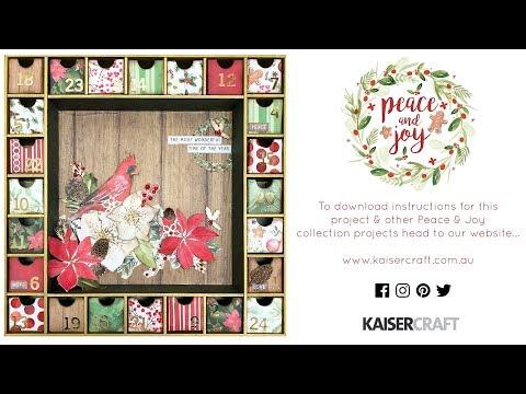 How to Make the Kaisercraft Advent Calendar