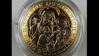Austria 500 Schilling 2000 Birth of Christ Religion Gold Coin