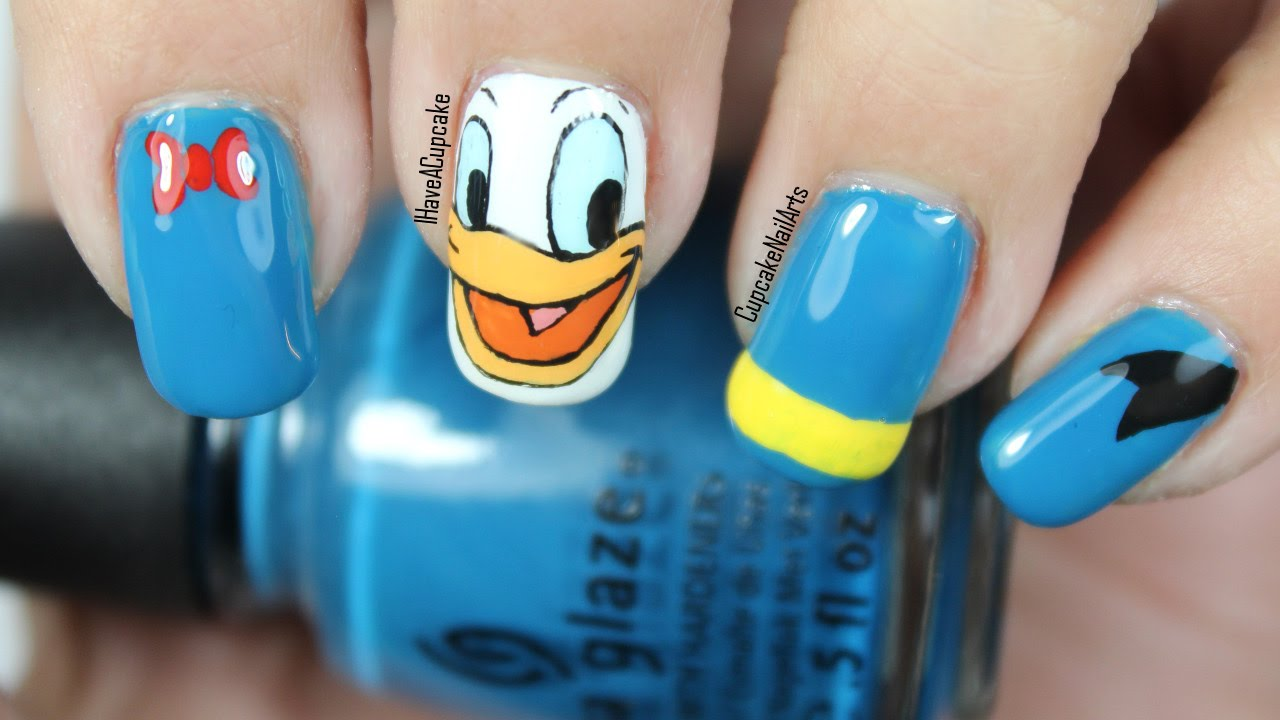 - Disney Nail Art Video Tutorial *Donald Duck* - YouTube