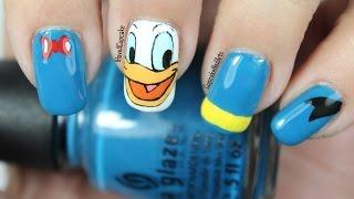 Disney Nail Art Video Tutorial *Donald Duck*