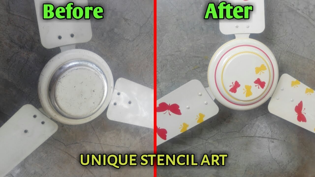 How To Paint An Old Ceiling Fan Ceiling Fan Painting Ideas Youtube