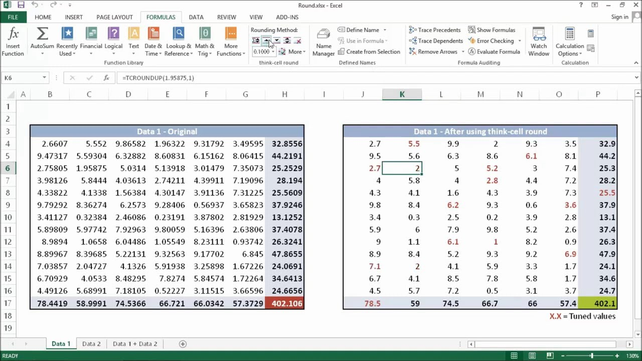 how to create penny rounding in excel