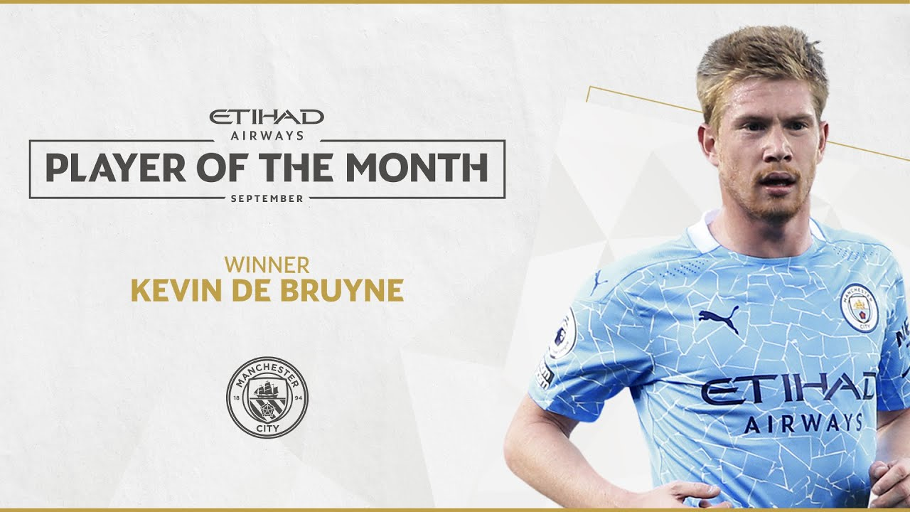 KEVIN DE BRUYNE | ETIHAD PLAYER OF THE MONTH | September 20/21 - YouTube