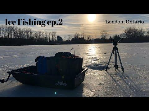 Ice Fishing Pond Mills, London, Ontario