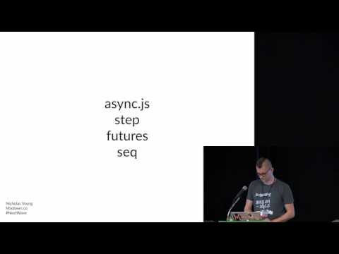 Callback-less Asynchrony: ES6, Generators, and the next wave of JavaScript development