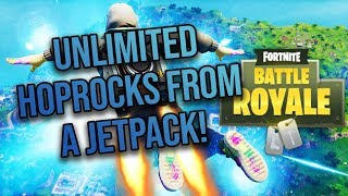 THE *NEW* JETPACK IS BROKEN | UNLIMITED HOP ROCKS GLITCH FORTNITE BATTLE ROYALE!