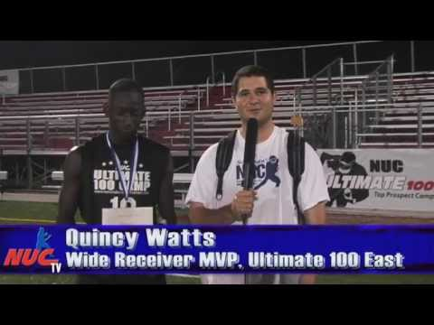 Quincy Watts - Freshmen Wide Receiver MVP - NUC Ultimate 100 East Football Camp