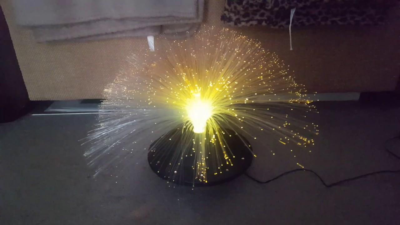 fibre optic rotating lamp on ebay - youtube optical fiber rotating lamp diagram