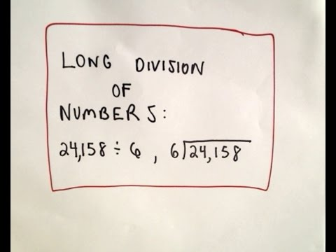 Shreck's Guide to Long Division