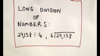 Long Division of Numbers - Arithmetic Basics, Ex 1