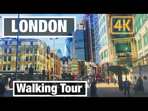 4K City Walks: Old Street to Tower Bridge London Virtual Walk Walking Treadmill Video