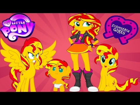 My Little Pony Transforms Princess Sunset Shimmer Baby