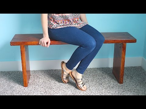 How To Make A Custom Wood Bench!