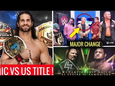 IC Title Vs US Title CONFIRMED ! Major Change to Crown Jewel 2018 ! Survivor Series 2018 Match Card