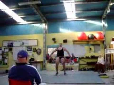 Weight Lifting Todd hodgetts 95kgs Snatch P.B