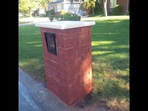 Brick Mailbox Build Youtube
