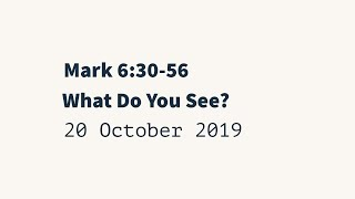 20191020 - What Do You See? Mark 6:30-56