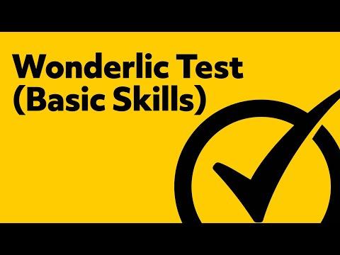 Free Wonderlic Basic Skills Test