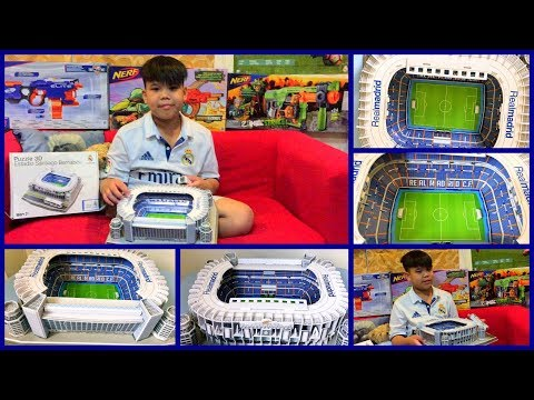 The Completed Santiago Bernabeu Real Madrid Stadium Puzzle 3D Replica