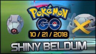 Shiny Wild Beldum Hunt in Pokemon GO! Meteor Mash Metagross! (Highlights)
