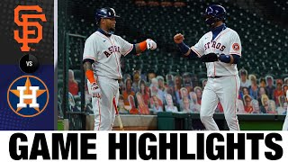 Lance McCullers Jr. leads Astros to 6-4 win | Giants-Astros Game Highlights 8/10/20