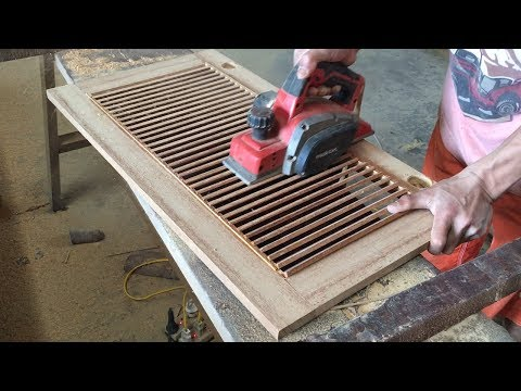 Amazing Woodworking Technical Extremely High - How To Make A Shutter Door For Storage Cabinets