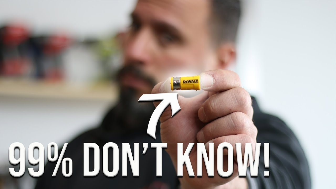 99% OF PEOPLE DON'T KNOW WHAT THIS DeWALT TOOL ACCESSORY DOES! #1