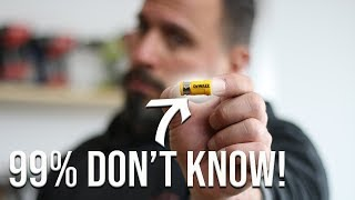 99% OF PEOPLE DON'T KNOW WHAT THIS DeWALT TOOL ACCESSORY DOES!
